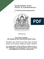 Inseparability of HH Dalai Lama and Chenrezig Sadhana