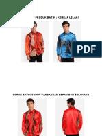 Contoh Produk Batik Kemeja Lelaki Ocx