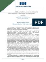 Real Decreto 140 2003 Consolidado