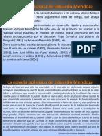 La Novela Policíaca de Eduardo Mendoza