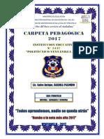 Carpeta Pedagógica Secundaria 2017