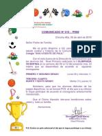1523043904-Comunicado Nº 019 Prim - i Olimpiada Vicentina