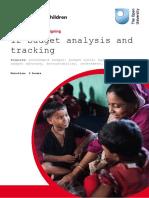 Budget Analysis and Tracking