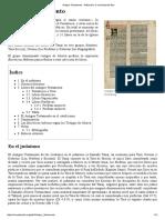 Antiguo Testamento - Wikipedia, La Enciclopedia Libre