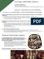 Fuentes de La Historia Antigua - Categorías y Problemas