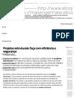 Post AltoQi - Projetos Estruturais - Faça Com Eficiencia e Segurança