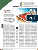 The 'Secular' Solution for Ayodhya - Michel Danino, TNIE 06.03.2018