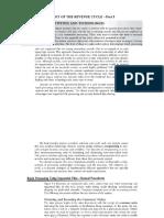 Audit of Revenue Cycle - Part 3