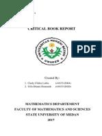 Critical Book Report Linear Algebra