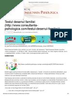 Testul Desenul Familiei _ Consultanta Psihologica