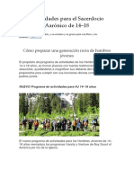 Actividades Para El Sacerdocio Aarónico de 14 a 18 Años