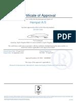 Hempel Iso 9001 Certificado de Aprobacion