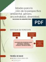 Habilidades Para La Inserción de La Perspectiva Ambiental ancestral género diversidad