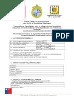 Formulario Postulación Diplomado en Formación de Capacidades para la Integración de Innovación Educativa, en Sustentabilidad y Medioambiente con Pertinencia Territorial