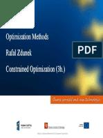Optimization Methods Constrained