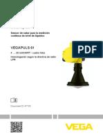 47105 ES VEGAPULS 61 4...20 MA HART Cuatro Hilos Homologación Según La Directiva de Radio LPR