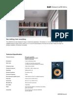 B&W Speaker CWM650 InfoSheet