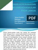 Asuhan Keperawatan Sistem Kardiovaskular Pada Lansia
