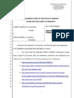 Joseph Chinnock v. Krista Ivanski - Amended Order for Permanent Injunction
