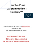 Propositions Pour Une Program Mat Ion