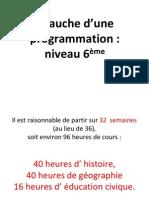 Propositions Pour Une Program Mat Ion