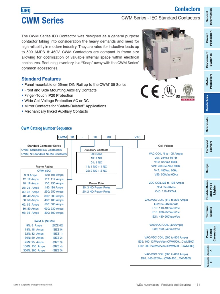 Weg Cwm Automation Relay Electrical Engineering Understanding A Size 00 Contactor Wiring