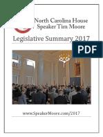 House Legislative Summary - 2017