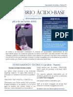 LABORATORIO Nº 6 Equlibrio Acidobase Valoracin PKa