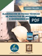 Elaboración de Fichas Técnicas de Proyectos de Inversión e Inversiones NO PIP
