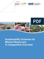Sustainability Schemes for Mineral Resources