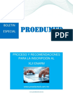 Boletin Especial Inscripcion Xlii Enarm Recomendaciones