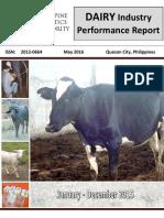 DAIRY Industry Performance Report - Jan - Dec 2015-1-1