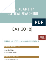 Verbal Ability - Critical Reasoning