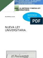 analisis comparativo nueva antigua ley universitaria peru