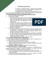 PROCESOS PRODUCTIVOS resumen
