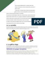 El Juego Es Un Hecho Motriz Implícito en La Práctica Habitual Del Niño