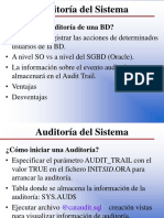 Auditoria Del Sistema Oracle