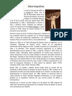 Datos Biograficos Santa Cruz