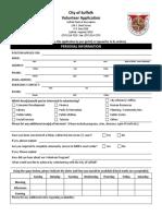 Volunteer Application - Standard