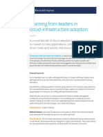Learning From Leaders in Cloud Infrastructure Adoption