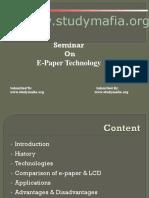 E-Paper Technology Ppt
