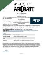 World of Warcraft 5e RPG Core Document
