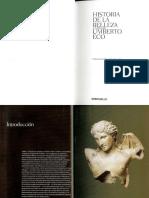 Historia de La Belleza. Umberto Eco 1