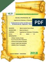 """Implementación de Base de Datos Para El Sistema de Restaurante EL Vegetariano """"Vida y Salud"""""""