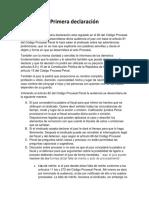 1.Primera Declaración