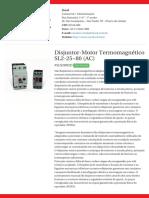Disjuntor-Motor Termomagnético SL2!25!80 (AC) - SLS2802D