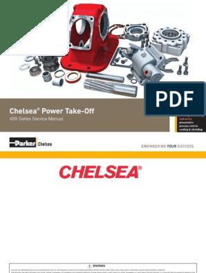 Manual de Servicio Tomafuerza Chelsea 489 X | Manual