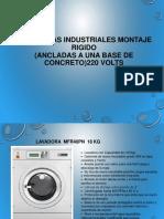 Catalogo de Lavadoras Domesticas e Industriales