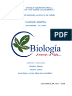 Planeacion de Biologia Dia Por Dia Bloque 1