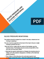 B.P and Blood Glucose Monitoring